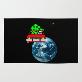 Ride to Mars selfie Rug