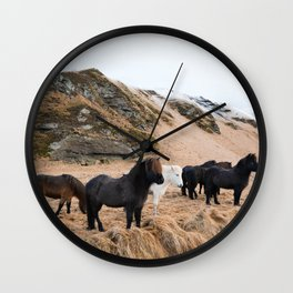 Icelandic Horses Wall Clock