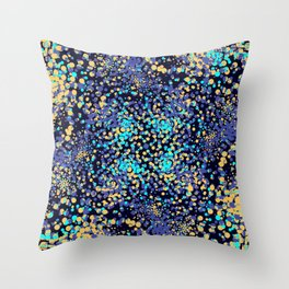 Abstract Mixed Media Series Sea Urchins 18 Throw Pillow