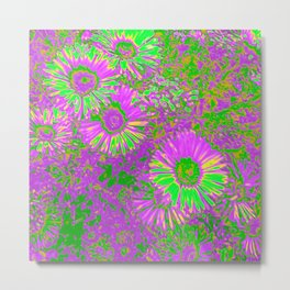 Amazing glowing Flowers A Metal Print