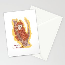 Orangutan In The Forest Stationery Cards