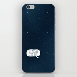 Star Stuff (Science Fiction Wrapping Paper No. 2) iPhone Skin