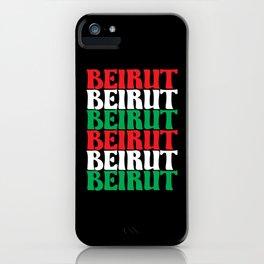 Beirut Lebanon Support Lebanese iPhone Case