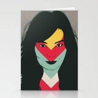 bjork Stationery Cards featuring BJORK by Mamut