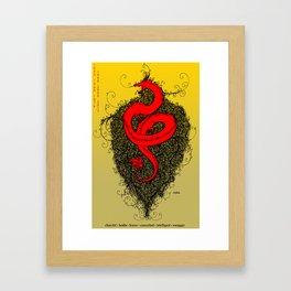 Chinese Zodiac Dragon Framed Art Print