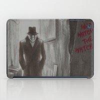 rorschach iPad Cases featuring Rorschach by JadeJonesArt