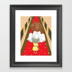 Boo! But Tiny Mouse I Think You Should Look Behind You! Framed Art Print