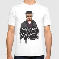 Say My Name - Heisenberg Mens Fitted Tee White SMALL