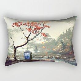 Tardis With A Tree Rectangular Pillow