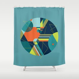A Fraudulent Response on Blue Shower Curtain