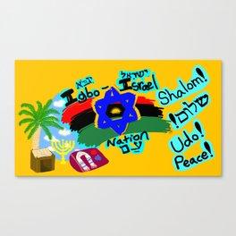 Igbo-Israel Nation Movement Campaign Mural I Canvas Print