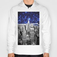 new york city Hoodies featuring new york city. Blue Stars by 2sweet4words Designs