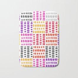 bright pattern of pink, yelow and purpe no 4 Bath Mat
