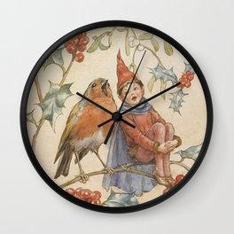 """A Christmas Duet"" by Margaret Tarrant Wall Clock"