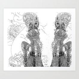 Mono 1 [Pen Drawing Illustration] Art Print