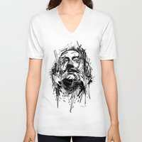 dali V-neck T-shirts featuring Dali by nicebleed