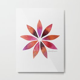 Star Petals Metal Print