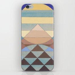 Pyramid Sun Turquoise iPhone Skin
