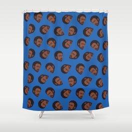 GAMBINO   blue Shower Curtain