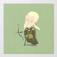 legolas Canvas Prints featuring Legolas by Rod Perich