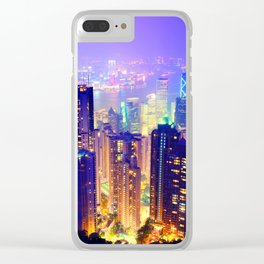 Chill Lighted City Clear iPhone Case