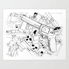 Murderous humanity Art Print