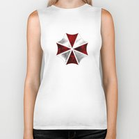 resident evil Biker Tanks featuring Resident Evil Umbrella Corporation by Liquidsugar