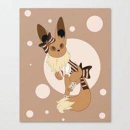 Little Steampunk Fox Canvas Print