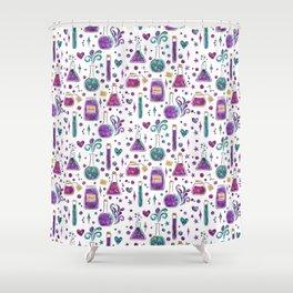 Galaxy Potions - Purple Palette Shower Curtain