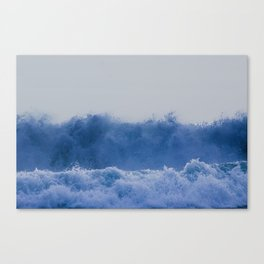 Blue Sea Wave Canvas Print
