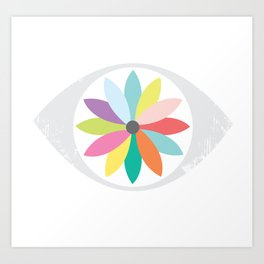 You are the flower of my eye Art Print