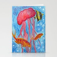 jelly fish Stationery Cards featuring Jelly Fish by Julie M Studios