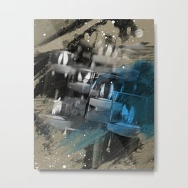 Flickering Lights Metal Print
