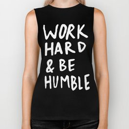 Work Hard and Be Humble II Biker Tank