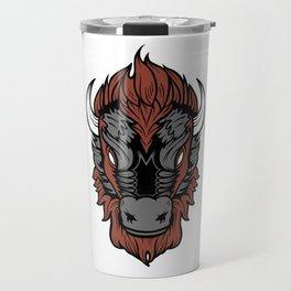 American Bison Buffalo Head Travel Mug