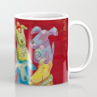 dogs Mugs featuring Dogs by Catru