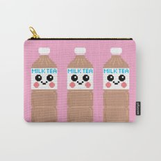 Happy Pixel Milk Tea Carry-All Pouch