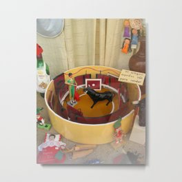 TOY BULLFIGHTER SET IN SHOP WINDOW Metal Print