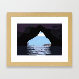 Kayak cove Framed Art Print