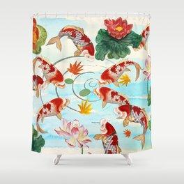 Chinese Koi Dream Shower Curtain