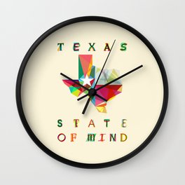 Texas State Of Mind Wall Clock