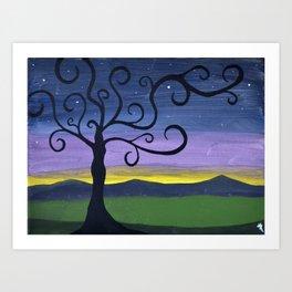 Midnight Woman Art Print