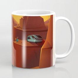 Vintage Adventure Travel Olympus Mons Awaits Coffee Mug