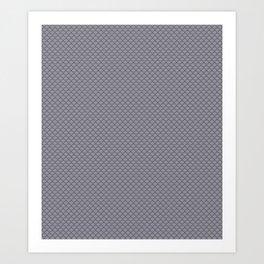 Pantone Lilac Gray Small Scallop, Wave Pattern Art Print