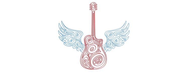 limited edition: musical guru guitar with wings Coffee Mug