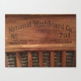 Antique washboard Canvas Print