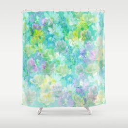 Enchanted Spring Floral Abstract Shower Curtain