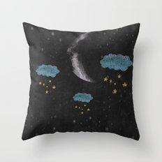 Moon over my hammy Throw Pillow