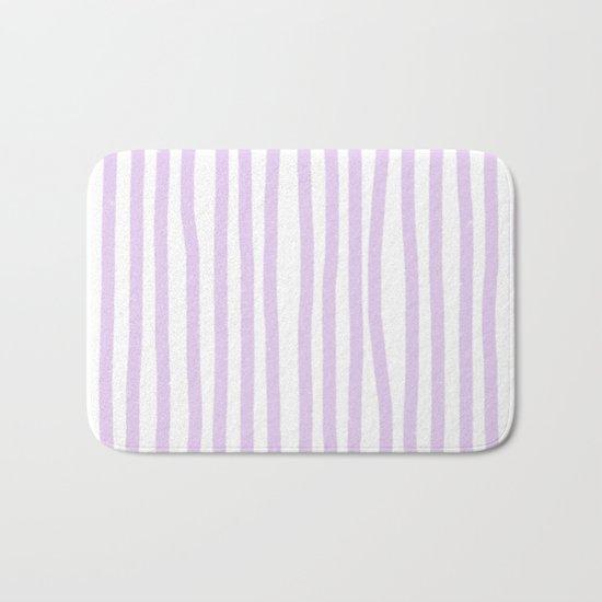 Lavender Stripes Bath Mat