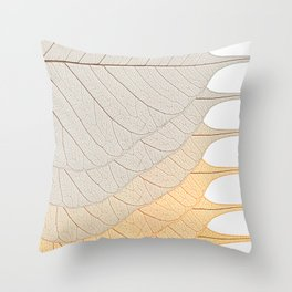 Leaves Orange Throw Pillow
